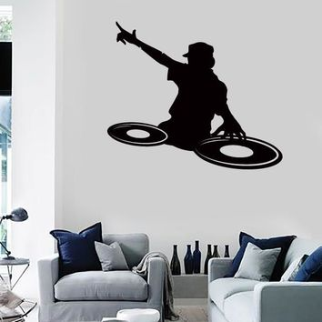 Vinyl Decal Wall Stickers DJ Music Youth Dee Jay Night Clubs Disco (z1677)