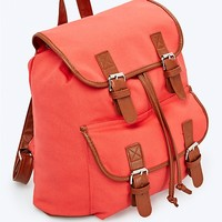 Coral Canvas Backpack
