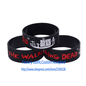 1PC The Walking Dead Silicone bracelet 1 inch Silicone band Silicone wristband Custom Accepted