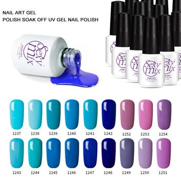 Sexy Mix 7ml soak off nail gel polish 119 nude colors long lasting manicure painting gel varnishes nail art UV gel lacquer