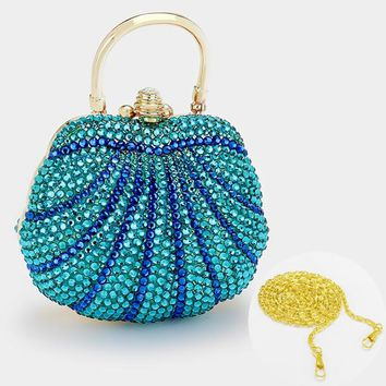 Crystal Pave Hard Shell Evening Clutch Bag