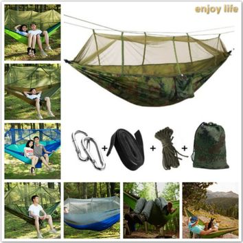 Camping Mosquito Nets Hammocks, Portable Lightweight Parachute Nylon,Top Rated Best Quality Gear For The Outdoors Backpacking Su