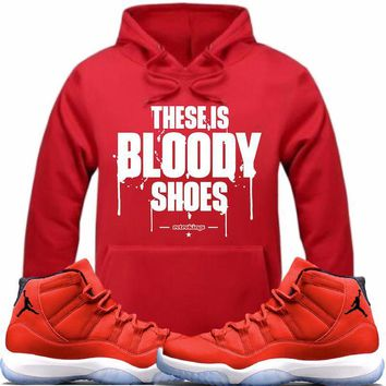Jordan 11 Win like 96 Gym Red Sneaker Hoodie - BLOODY SHOES