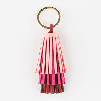 Layered Tassel Keychain | Keychains + Bag Charms