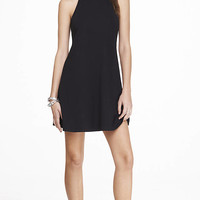 BLACK SLEEVELESS TRAPEZE DRESS from EXPRESS