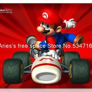 mario mousepad racing red cartoon gaming mouse pad gamer large notbook computer mouse mat 8 size for gear mouse pad