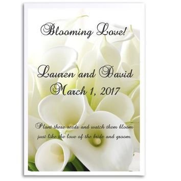 8 White Calla Lily Wedding Seed Favors