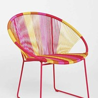 Plum & Bow Striped Weave Chair- Pink One