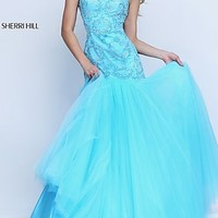 Sherri Hill Long Gown with Trumpet Skirt