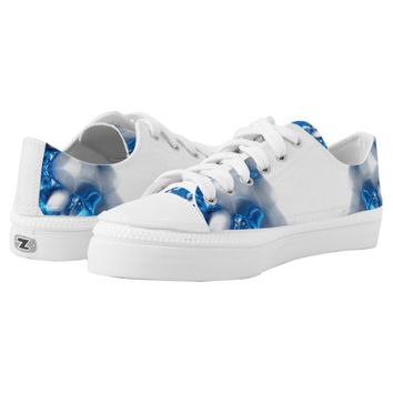 Blue Diamonds Printed Shoes