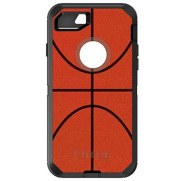 DistinctInk™ OtterBox Defender Series Case for Apple iPhone / Samsung Galaxy / Google Pixel - Basketball Drawing