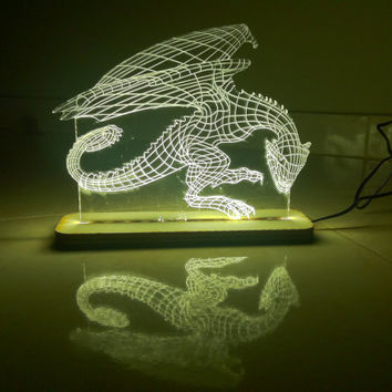 dragon night lamp inspire by game of thrones