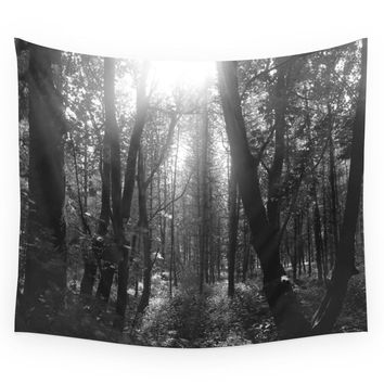 Society6 Forest Sun Wall Tapestry