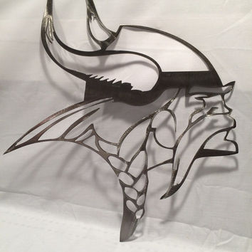 Minnesota vikings wall art cut from metal, football, viking