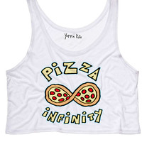 Pizza Infinity Crop Tank Top