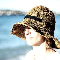 Adjustable Crochet Summer Straw Sun Hat by beliz82 on Etsy