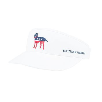 Party Animal Visor in White by Southern Proper