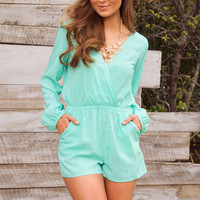 Shop Priceless Arwen Romper - Mint