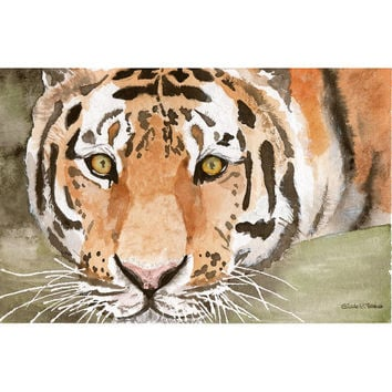 Original watercolor painting Tiger