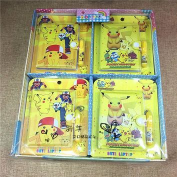 [TOOL] 2017 Pocket Monster Picacho Christmas Lovely Stationery  Suit  Buckles Notebook with a Pen Mini Notebook #0022Kawaii Pokemon go  AT_89_9
