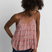 AEO Racerback Peplum Cami , Orange