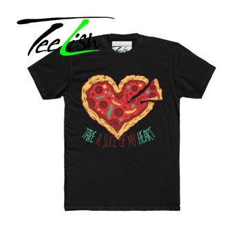 TeeLish Signature pizza graphic tee shirt for summer