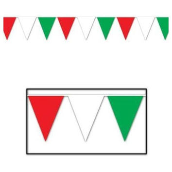 Red, White & Green Pennant Banner - All-Weather #GWR00
