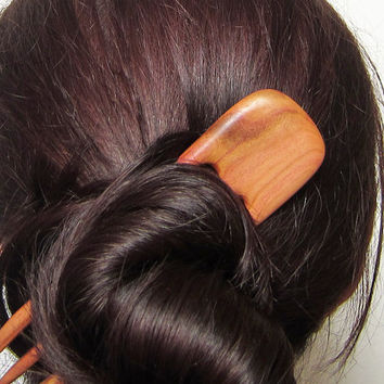 Wooden Hair Fork, hairfork, wood, hair stick, 3 prong