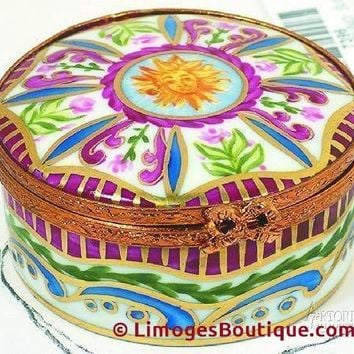 Medium Round: Sun King Limoges Boxes