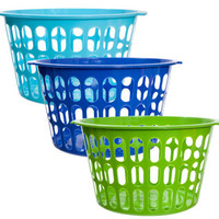 "Bulk Round Plastic Storage Baskets, 11"" at DollarTree.com"