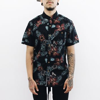 Nixon Floral Button Up (Black/Brown)