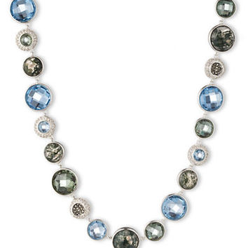 Judith Jack Sterling Silver and Mixed Stone Necklace