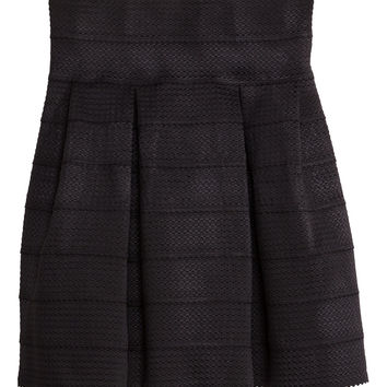 H&M - Skirt with Textured Pattern - Black - Ladies