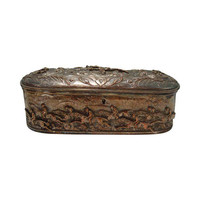 French Silver Plate Horse Racing Jewelry Box