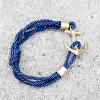 Nautical Rope Bracelet - Navy