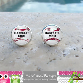 Baseball Earrings, Baseball Jewelry, Baseball Accessories, Personalized Baseball,Gifts for Her, Gifts under 10