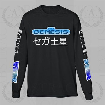Sega Genesis Gamer Long Sleeve Adult Unisex T Shirt