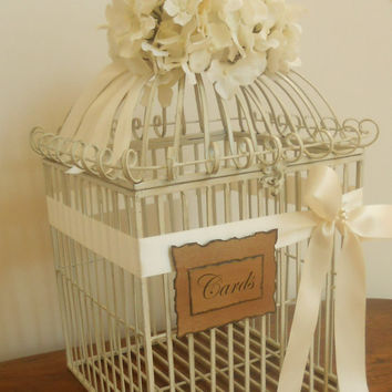 Wedding Card Box Birdcage / Wedding Birdcage Card Holder Extra Large Gorgeous / Decorative Bird Cage