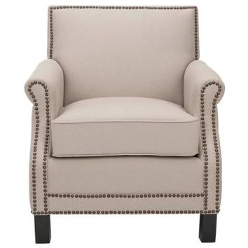 Safavieh Easton Linen Club Chair in Taupe-MCR4572B - The Home Depot