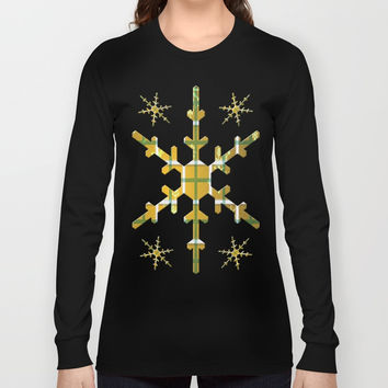 Gamboge Sycamore Snowflakes Long Sleeve T-shirt by deluxephotos