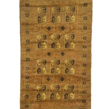 3x5 Overdyed Vintage Tribal Gold Rug woh-2622