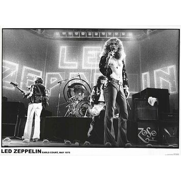 Led Zeppelin Earl's Court 1975 Poster 24x33