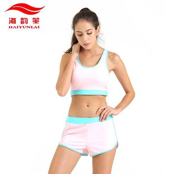 Yoga Sets Women Gym Clothes Breathable Sports Bra + Shorts Yoga Set Sport Set Sport Wear Training Suits Running Clothings