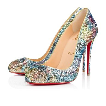 DORISSIMA GLITTER AQUARIUM, HORIZON/GOLD, Glitter, Women Shoes, Louboutin.