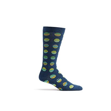 Ozone Navy Cookie Cutter Stripes Calf Sock
