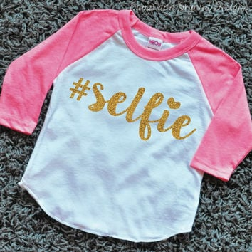 Hipster Baby Clothes #Selfie Baby Girl Clothes Toddler Raglan Shirt 077