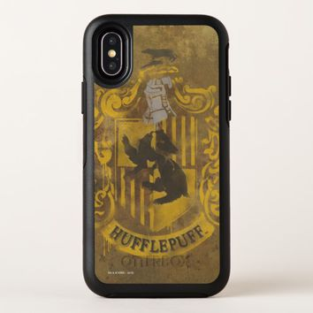 Harry Potter | Hufflepuff Crest Spray Paint OtterBox Symmetry iPhone X Case
