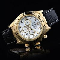 Rolex Trending Women Men Business Sport Movement Lovers Watch Black Gold Shell I-SBHY-WSL
