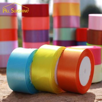 Handmade DIY Sewing Art Fabric Ribbon Cloth Tape 4cm Width Satin Ribbons Festive Wedding Party Decoration Gift Craft 25 Yard