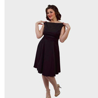 Queen of Heartz Penny Black Dress